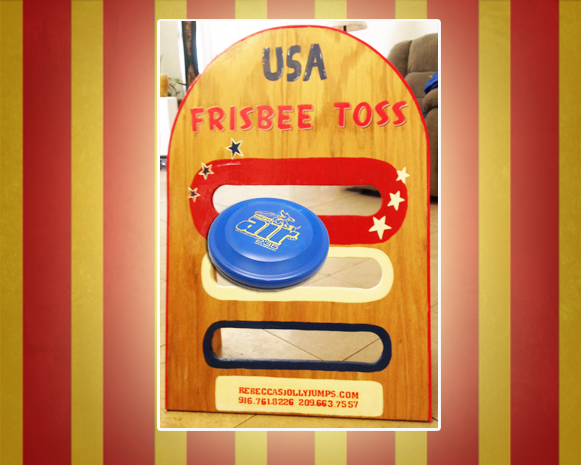 USA Frisbee Toss Carnival Game