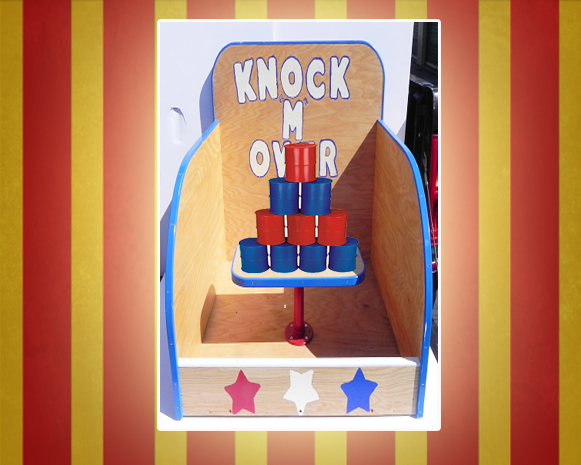 Knock M Over Carnival Game