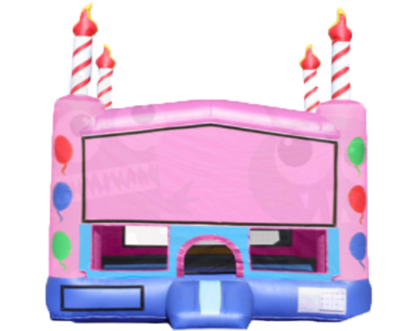 Pink Birthday Cake Bounce House
