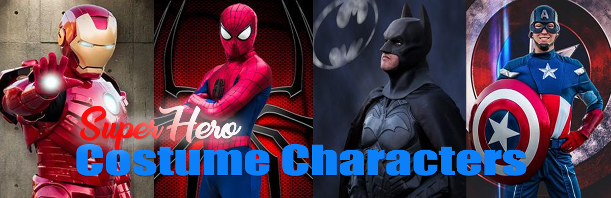 Super Hero Costume Characters For Hire Sacramento CA