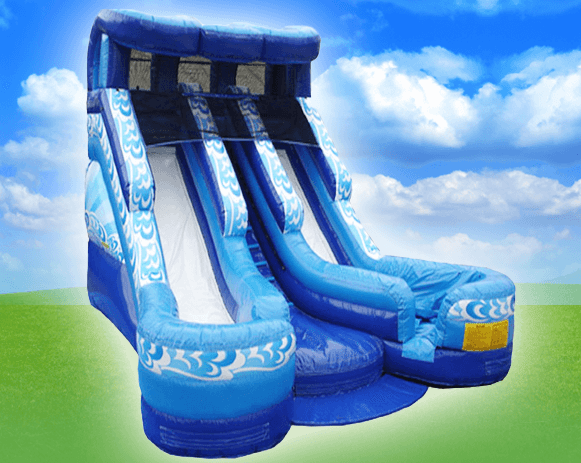 16' BLue & White Slide