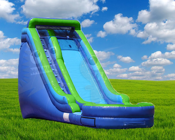 16' Green & Blue Water Slide Rental