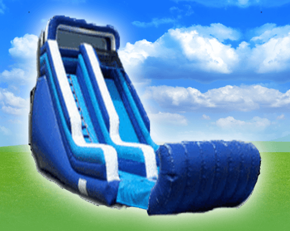 18' Blue & White Water Slide
