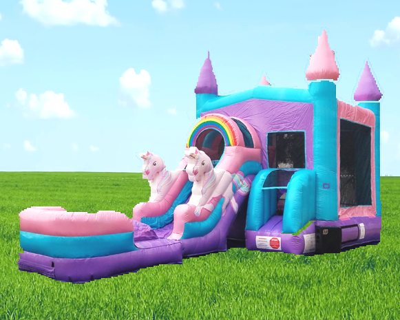 Magical Unicorn Combo Bounce House