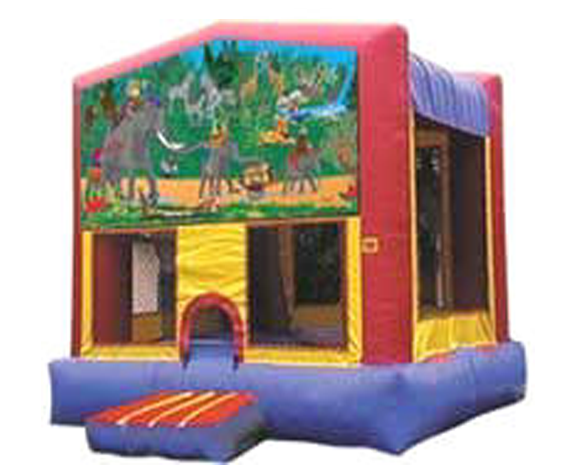 Jungle Themed Bounce House