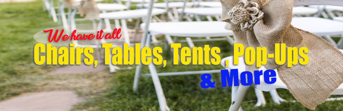 Tables & Chairs for Rent Sacramento CA
